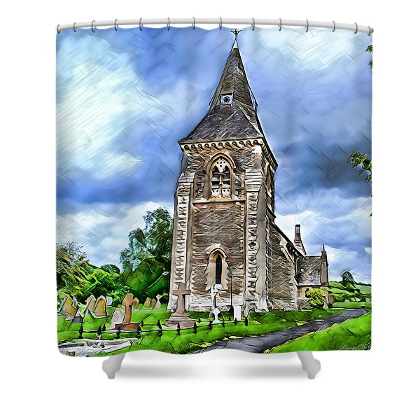 Very Old Church Shower Curtain