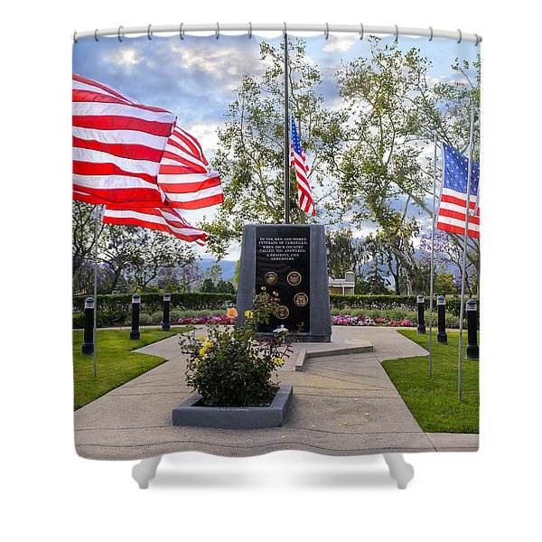 Veterans Monument Camarillo California Usa Shower Curtain