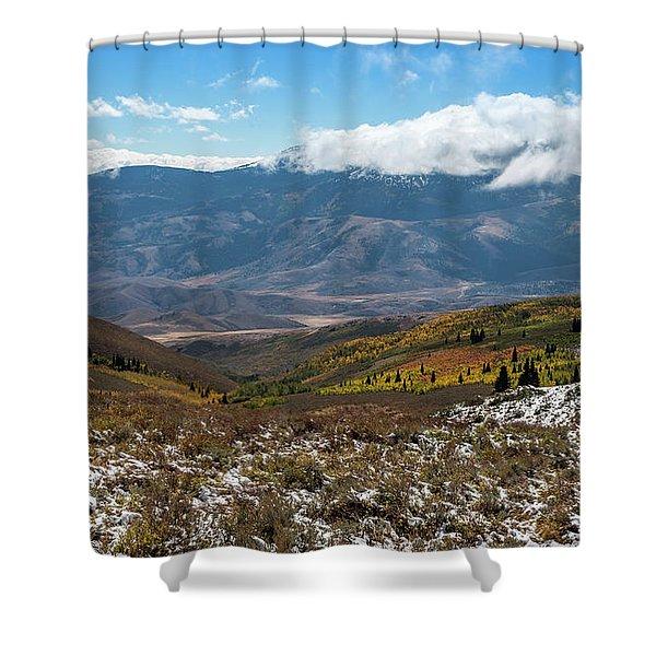 Vibrance Of The Storm Idaho Landscape Art By Kaylyn Franks Shower Curtain