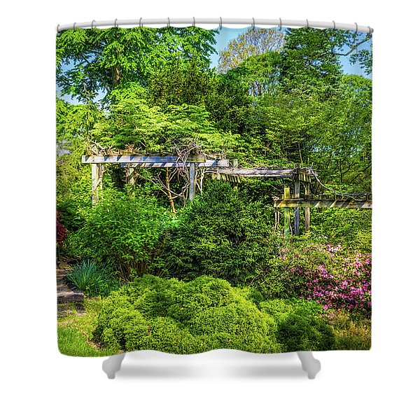 Vibrant Landscape Greenery Shower Curtain