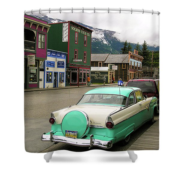 Vicky In Skagway Shower Curtain
