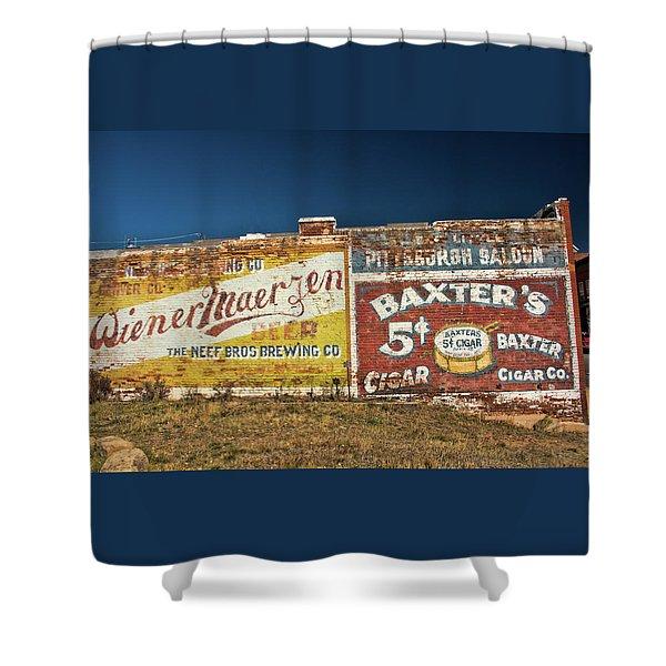 Victor Colorado Building Murals Shower Curtain