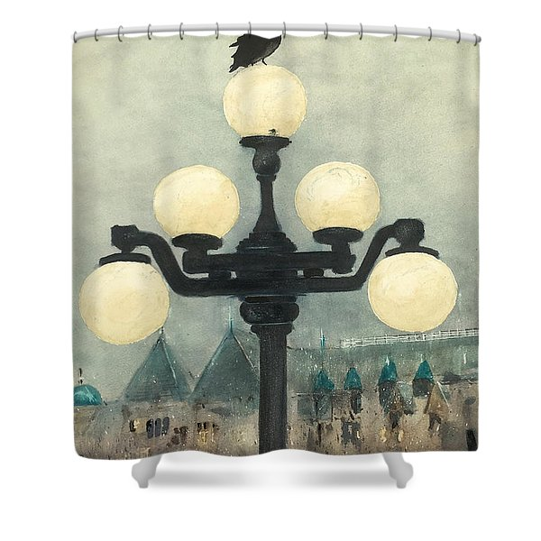 Victoria Evening Shower Curtain