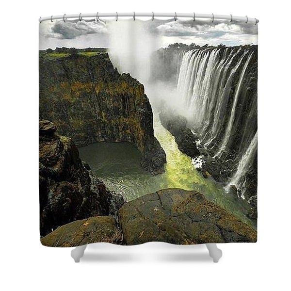 Victoria Falls Zambia And Zimbabwe  Shower Curtain