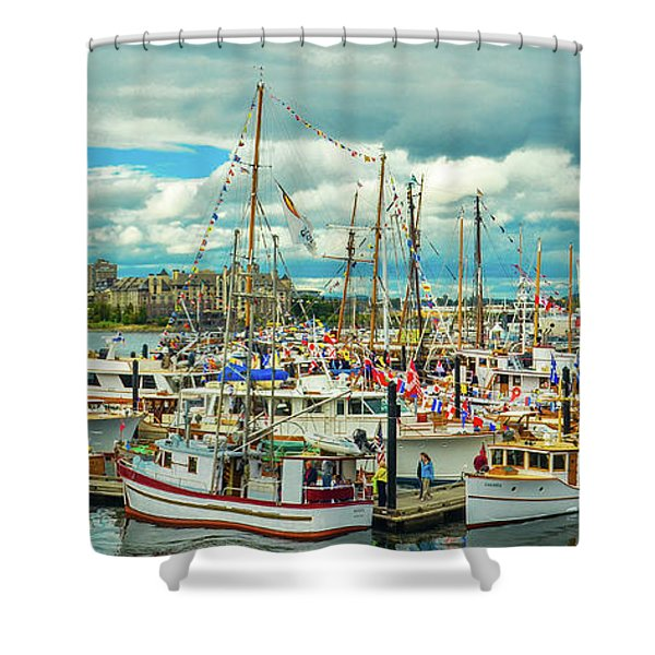 Victoria Harbor 1 Shower Curtain