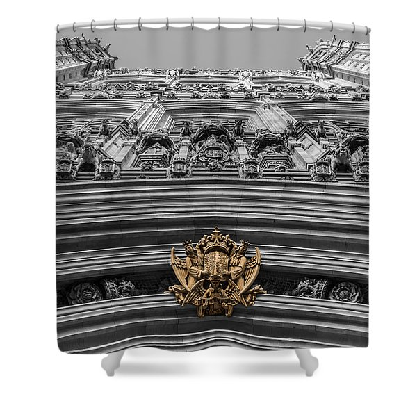 Victoria Tower Low Angle London Shower Curtain