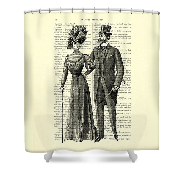 Victorian Couple Shower Curtain