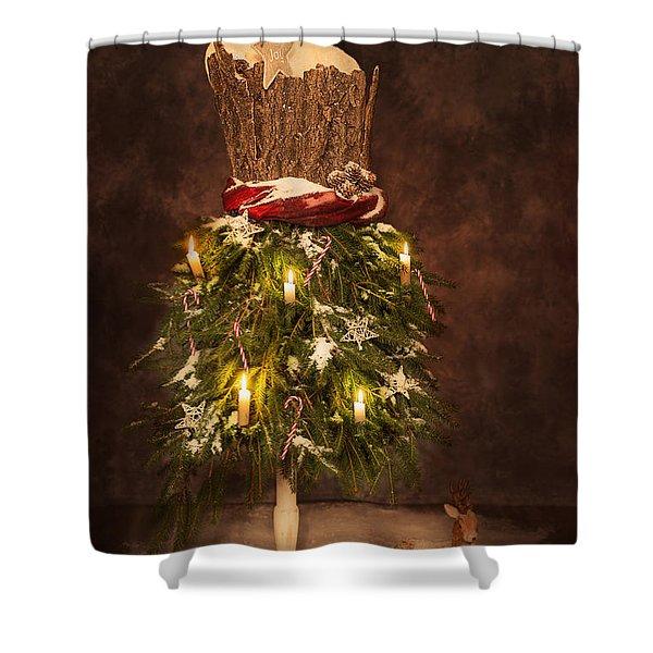 Victorian Festive Christmas  Shower Curtain