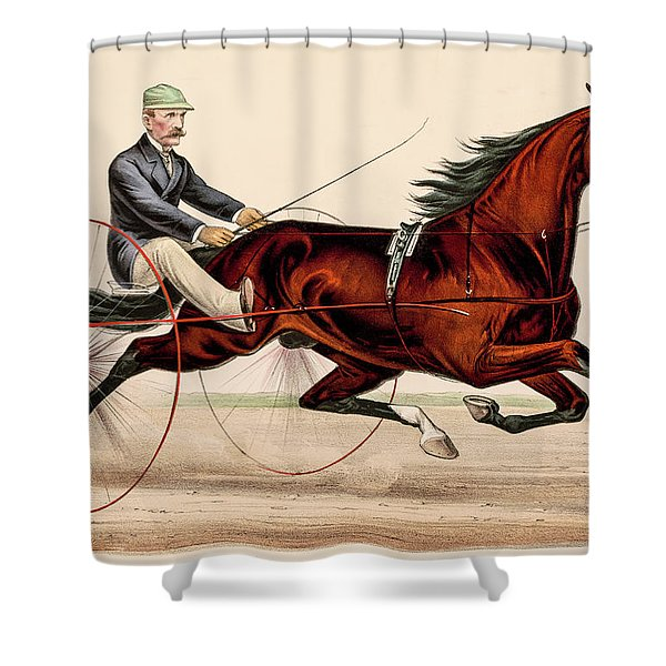 Victorian Horse Carriage Race Shower Curtain