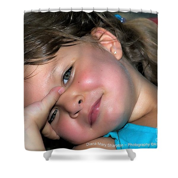 Victorias Smile Shower Curtain
