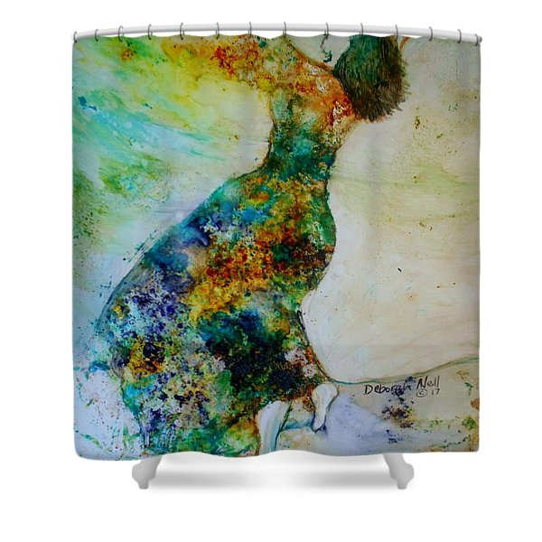 Shower Curtain featuring the painting Victory Dance by Deborah Nell