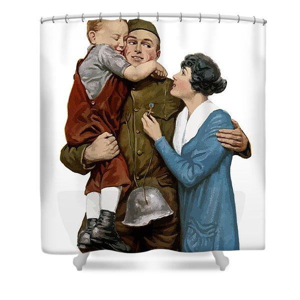 Victory Liberty Loan - World War One  Shower Curtain