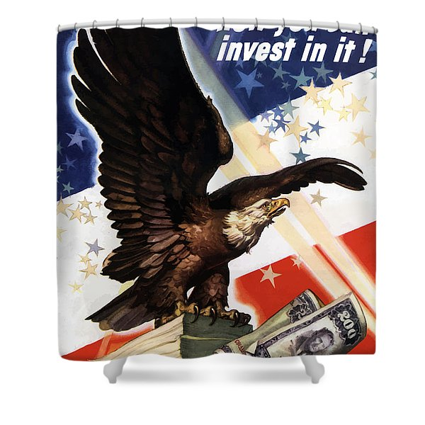 Victory Loan Bald Eagle Shower Curtain