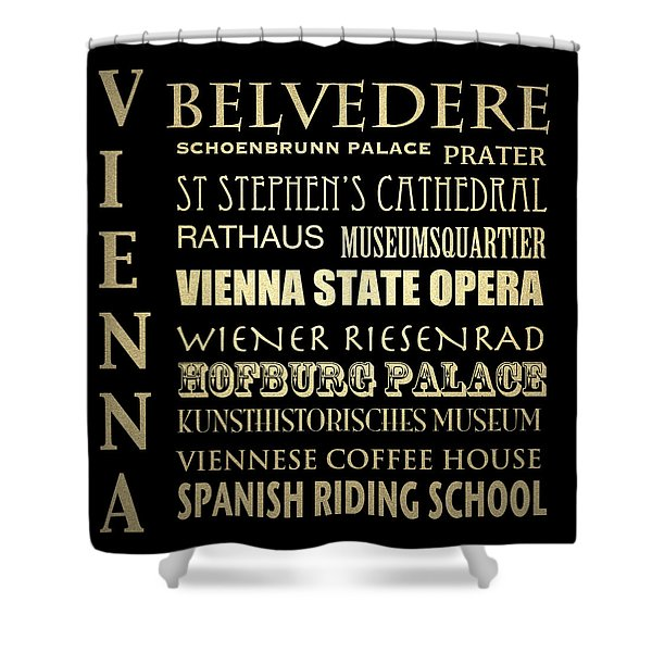 Vienna Austria Famous Landmarks Shower Curtain