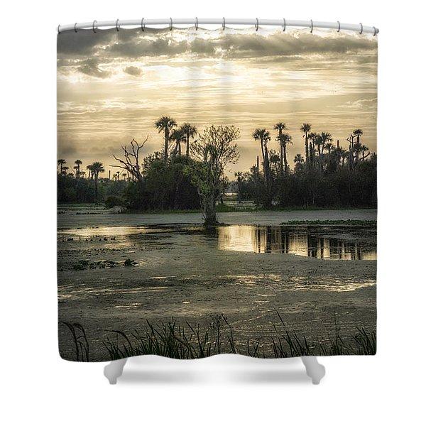Viera Storm Shower Curtain