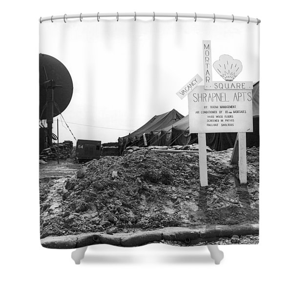 Vietnam Mortar Square Housing Shower Curtain