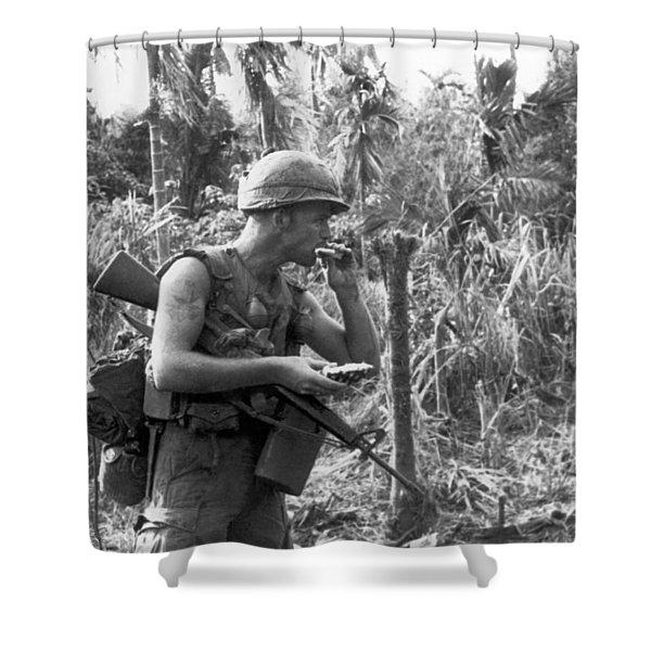 Vietnam Pineapple Snack Shower Curtain
