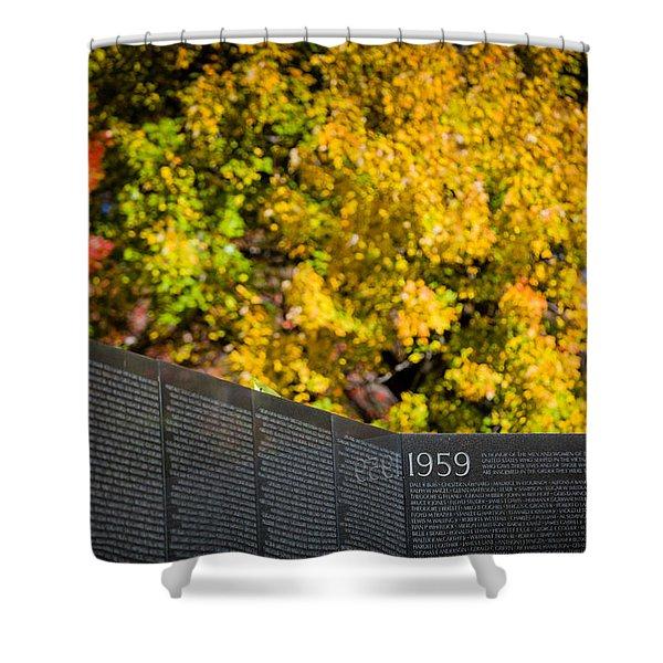 Vietnam Wall Autumn Shower Curtain