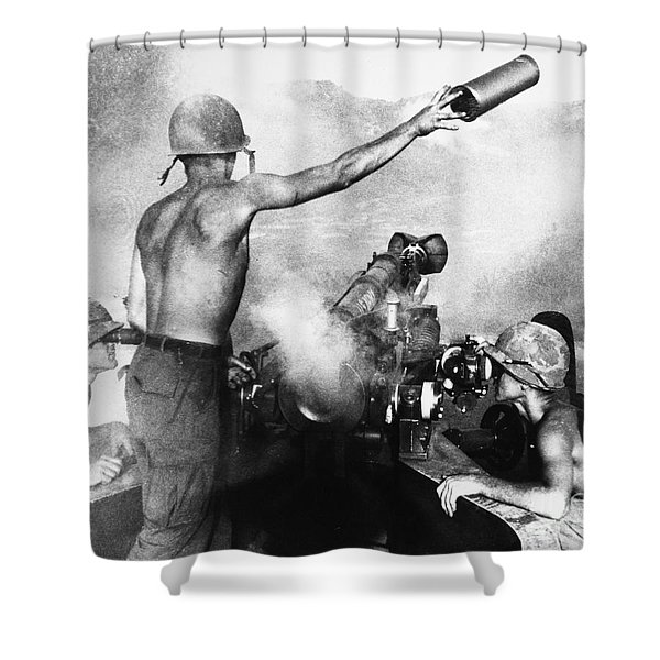 Vietnam War: Artillery Shower Curtain