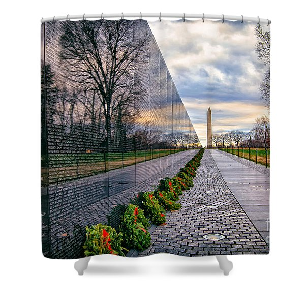 Vietnam War Memorial, Washington, Dc, Usa Shower Curtain