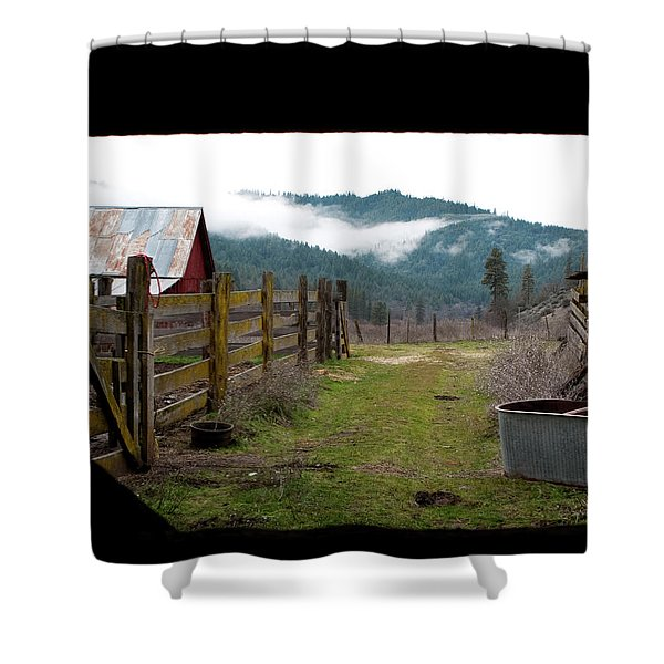 View From A Barn Shower Curtain