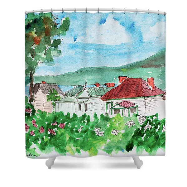 View From Battery Point Shower Curtain