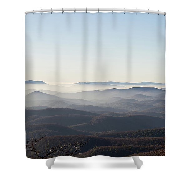 View From Blood Mountain Shower Curtain