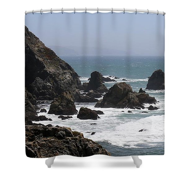 View From Bodega Head In Bodega Bay Ca - 4 Shower Curtain