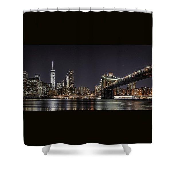 View From Brooklyn Bridge Park Shower Curtain