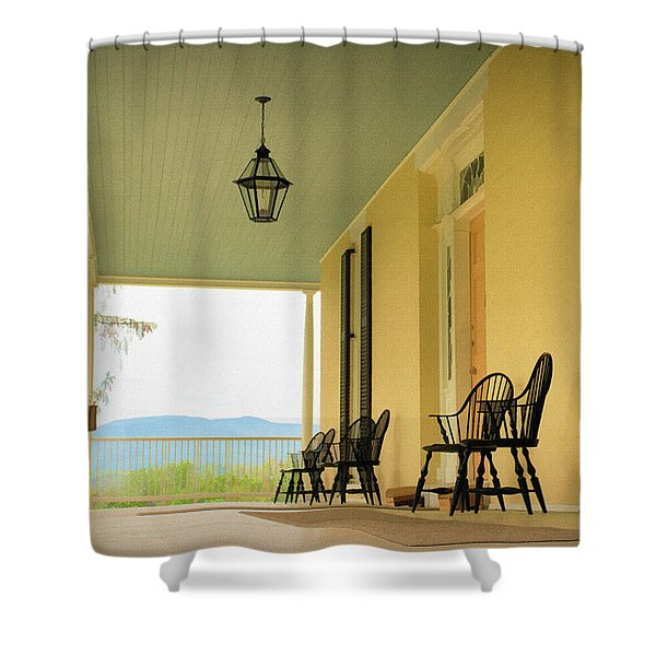 Shower Curtain featuring the photograph View From Cedar Grove by Nancy De Flon