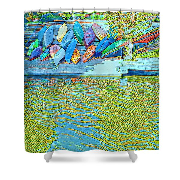 View From East Side Boardwalk Shower Curtain