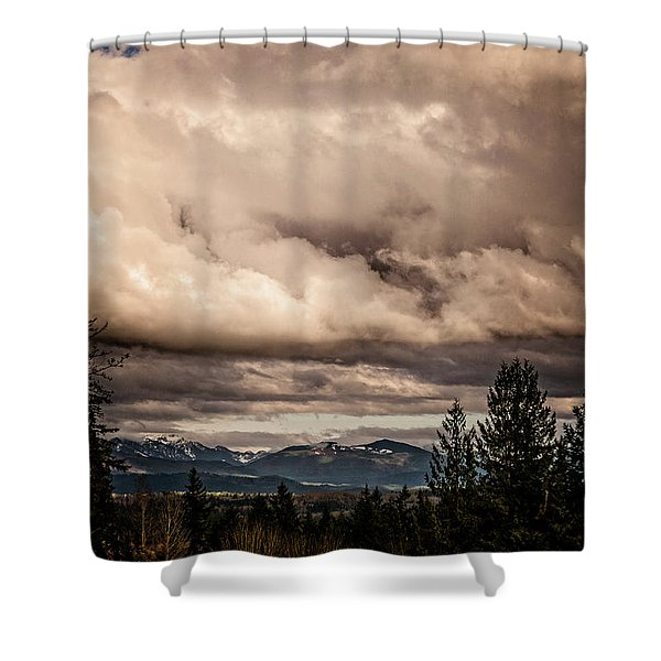 View From Flicka Farm Shower Curtain