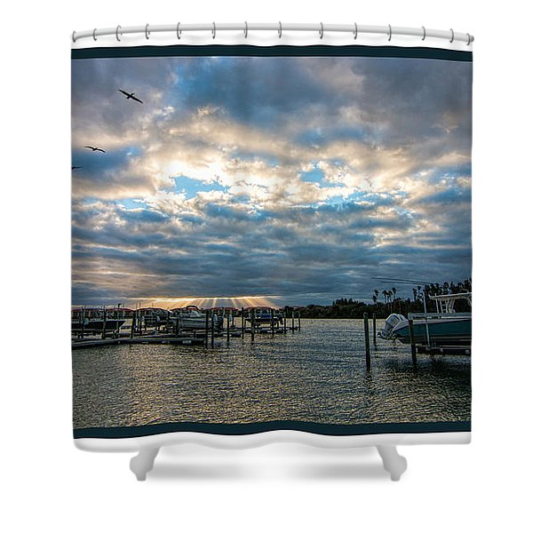 View From Marina Bay Shower Curtain