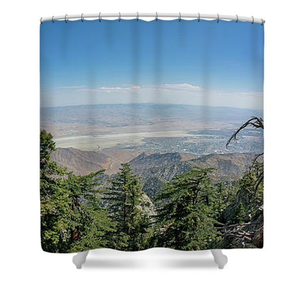 View From Mount San Jacinto Shower Curtain
