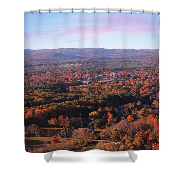 Shower Curtain featuring the photograph View From Mount Tom In Easthampton, Ma by Sven Kielhorn