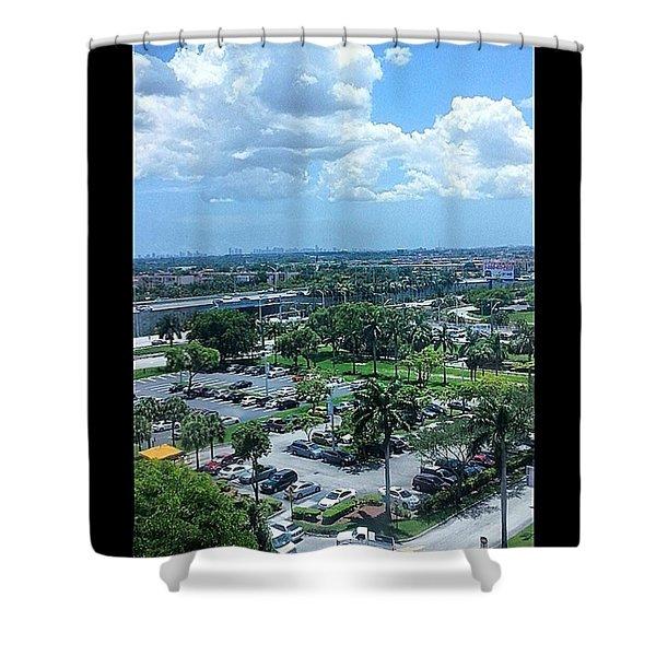 City On The Horizon Shower Curtain