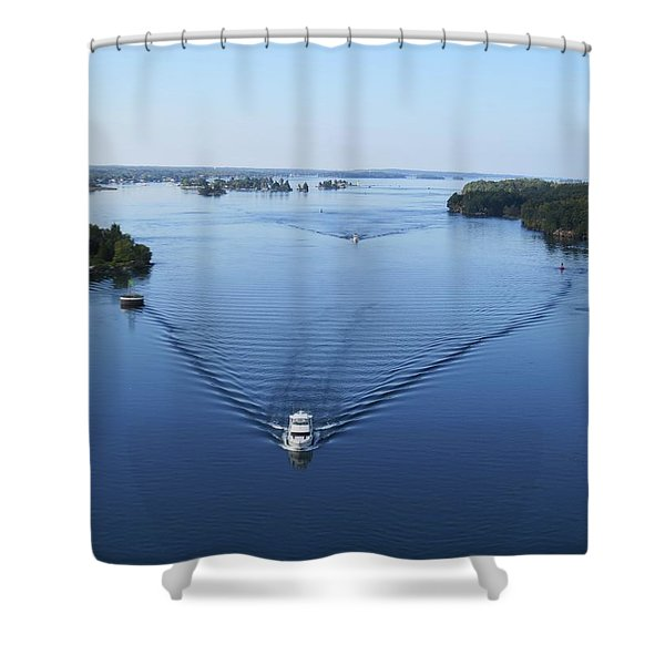View From The Bridge Shower Curtain