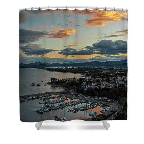 View From The Port Shower Curtain