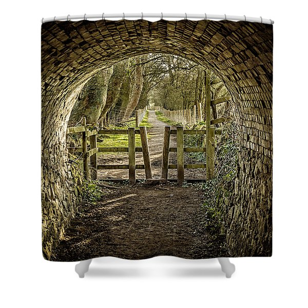Shower Curtain featuring the photograph View From The Tunnel by Nick Bywater