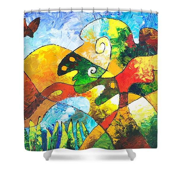 View From Valley Road Shower Curtain
