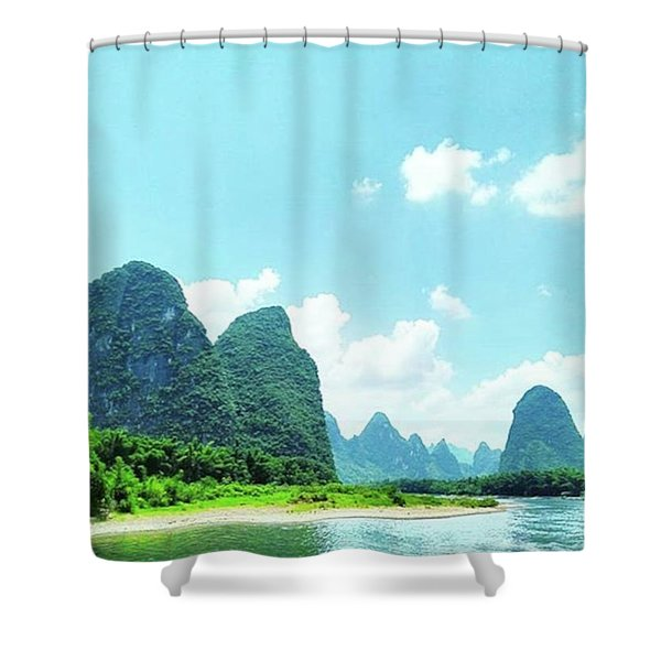 A Moment On Li River Shower Curtain