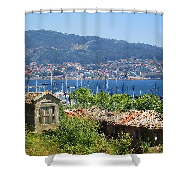 View Of Meira Shower Curtain