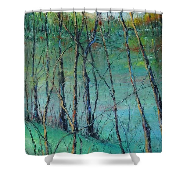 View Of Nature's Canvas Shower Curtain