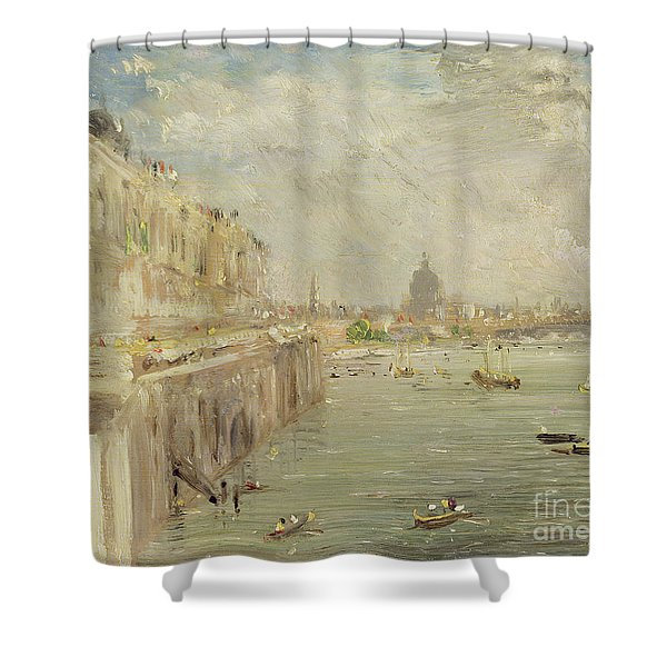View Of Somerset House Terrace And St. Paul's Shower Curtain