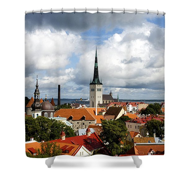 View Of St Olav's Church Shower Curtain