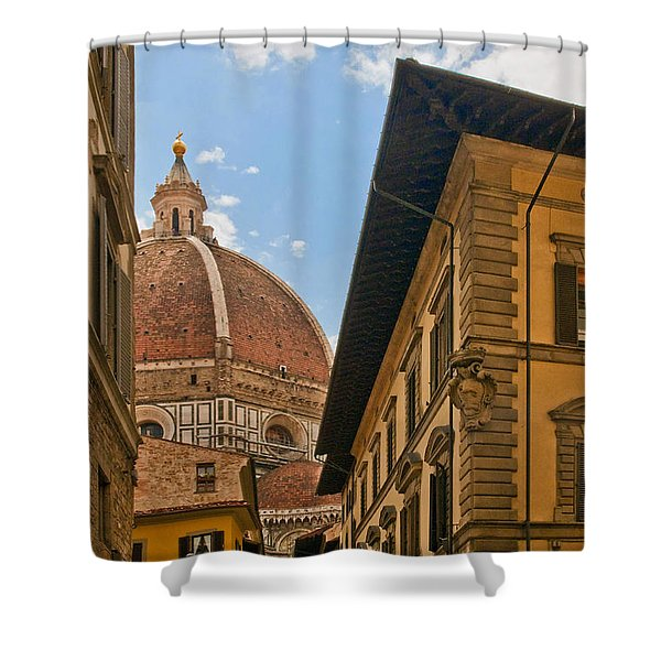 View Of The Duomo Shower Curtain