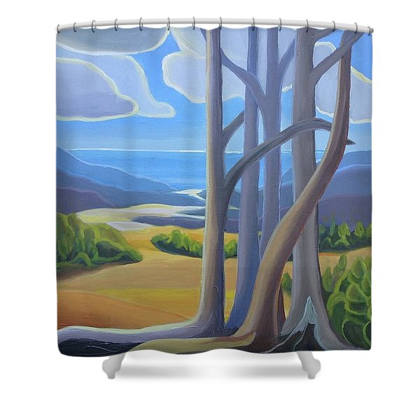 View Of The Lake Shower Curtain