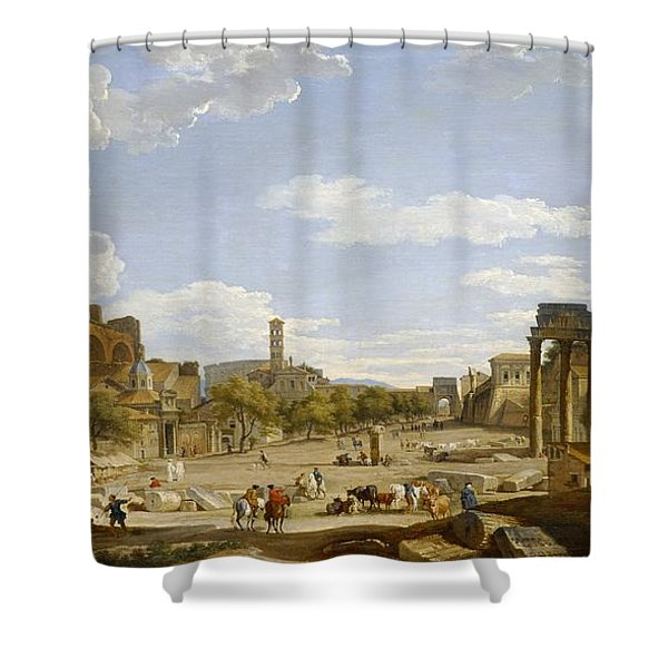 View Of The Roman Forum Shower Curtain