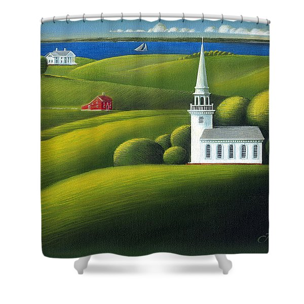 View Of The Sound Shower Curtain