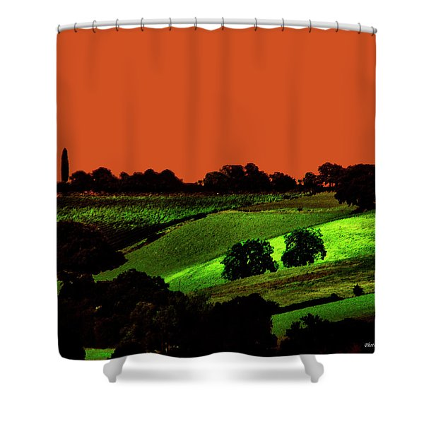 View Of Tuscany Shower Curtain